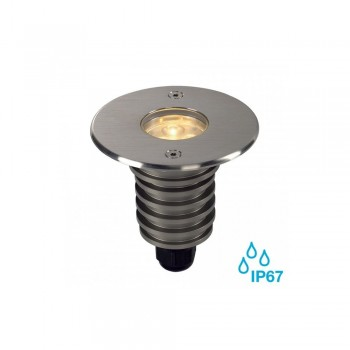 SLV 233520 Stainless Steel Brushed Dasar 920 5.5W LED Outdoor Recessed Ground Light