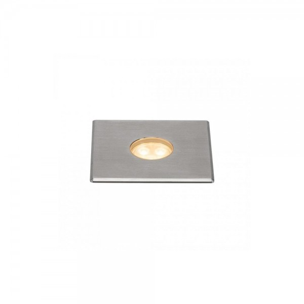 SLV 233692 Stainless Steel Dasar 100 Premium Square 5.5W LED Outdoor Recessed Ground Light