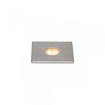 SLV 233702 Stainless Steel Dasar 100 Premium Square 5.5W LED Outdoor Recessed Ground Light