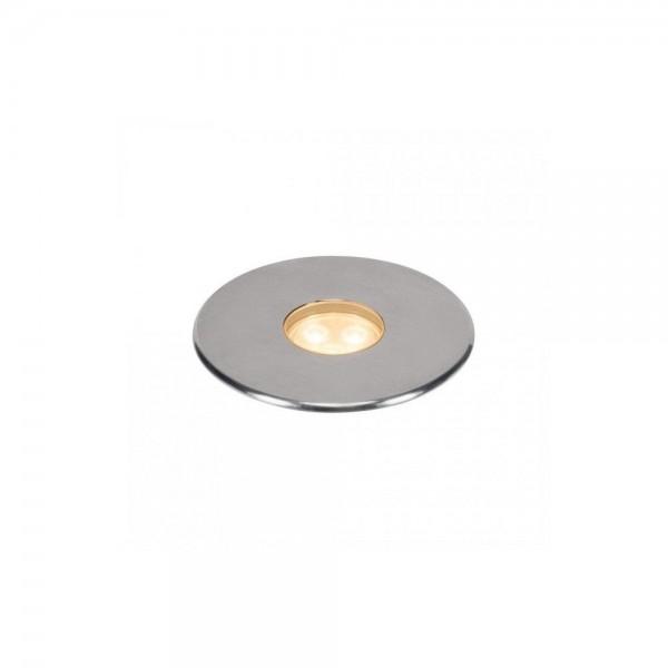 SLV 233672 Stainless Steel Dasar 100 Premium Round 5.5W LED Outdoor Recessed Ground Light