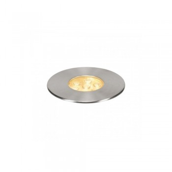 SLV 233722 Stainless Steel Dasar 150 Premium Round 17W LED Outdoor Recessed Ground Light