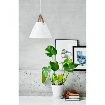 Nordlux DFTP 84313001 White Strap 27 Glass Pendant Light