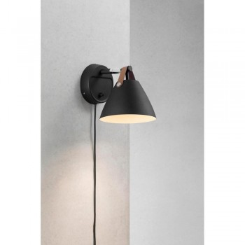 Nordlux DFTP 84291003 Strap 15 Black Wall Light