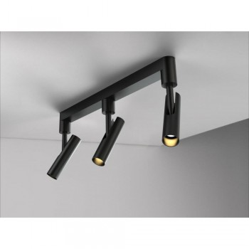 Nordlux DFTP 76690003 Mib 3 Black LED 3-Rail Ceiling Light