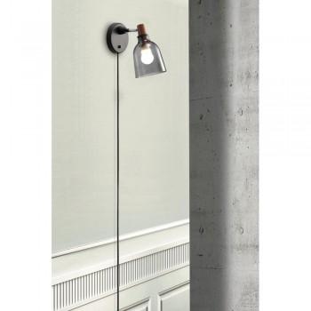 Nordlux 78321047 Smoked Glass Karma 14 Wall Light
