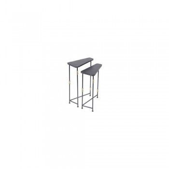 The Libra Company - Colloroy Set of 2 Iron Sides Tables