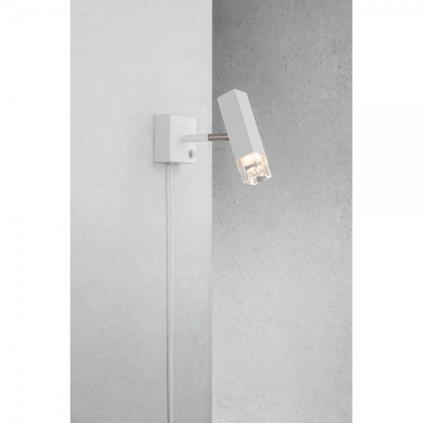 Nordlux DFTP 84511001 White Caddo LED Wall Light