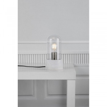Nordlux 45895001 Siv White Marble Lamp with Glass
