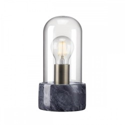 Nordlux 45895003 Siv Black Marble Lamp with Glass