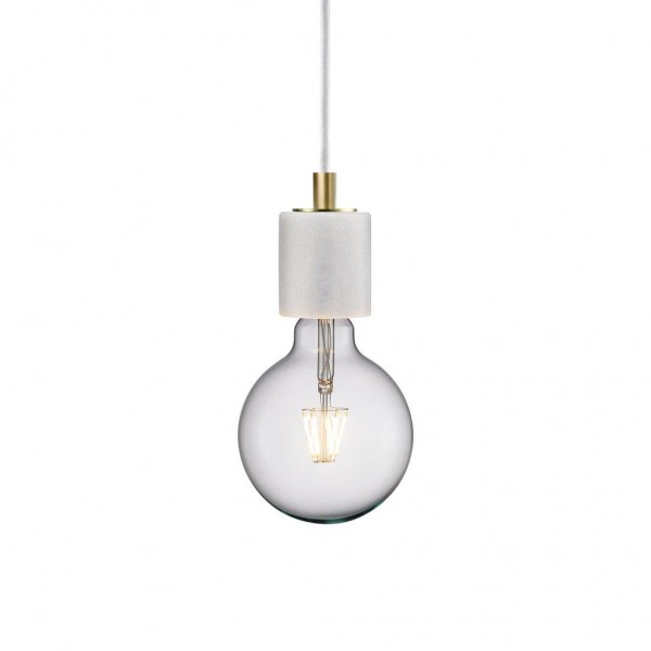 Nordlux 45883001 Siv White Marble Pendant Light