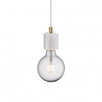 Nordlux 45883001 Siv White Marble Pendant Light