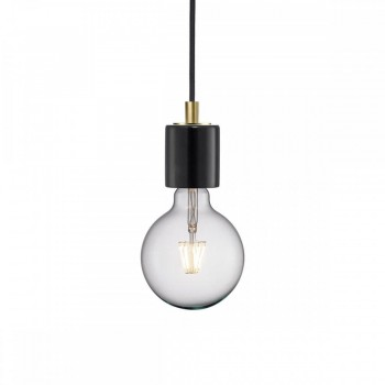 Nordlux 45883003 Siv Black Marble Pendant Light