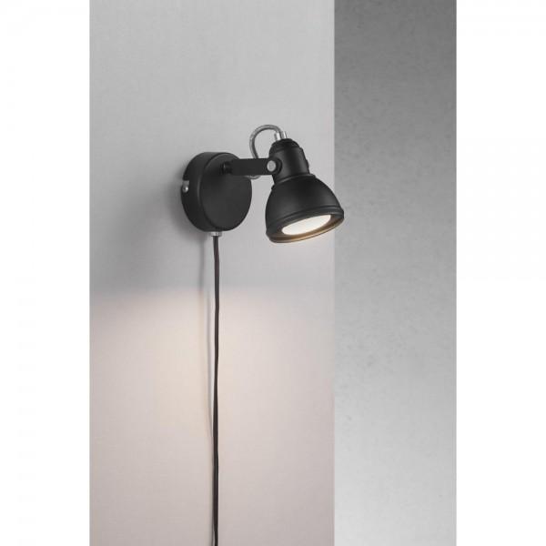 Nordlux 45721003 Aslak Black Wall Light