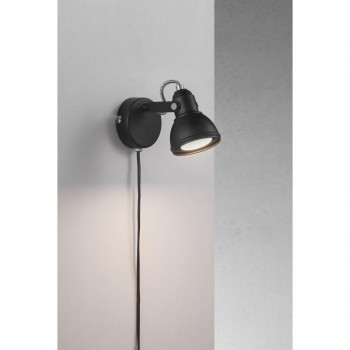 Nordlux 45721003 Aslak Black Wall Light