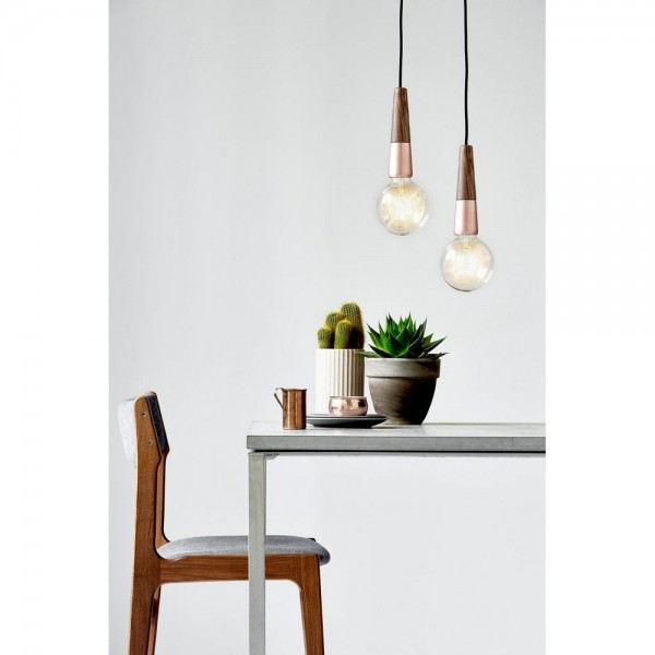 Nordlux DFTP 84373030 Walnut and Copper Stripped Suspension Light