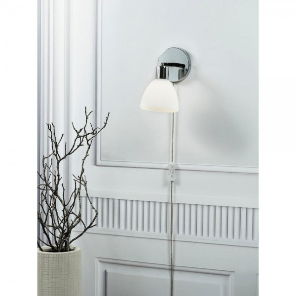 Nordlux 63191033 RAY Chrome/Opal Glass Wall Light
