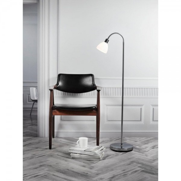 Nordlux 63214033 RAY Chrome/Opal Glass Floor Lamp