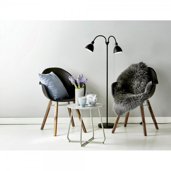 Nordlux 63224003 RAY Black Metal Double Floor Lamp