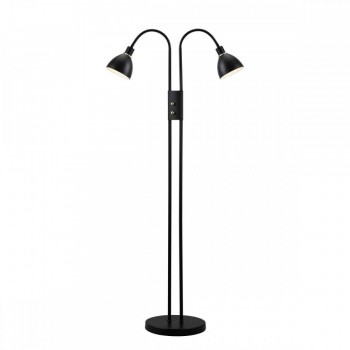 Nordlux 72224003 RAY Dimmable Black Metal Double Floor Lamp