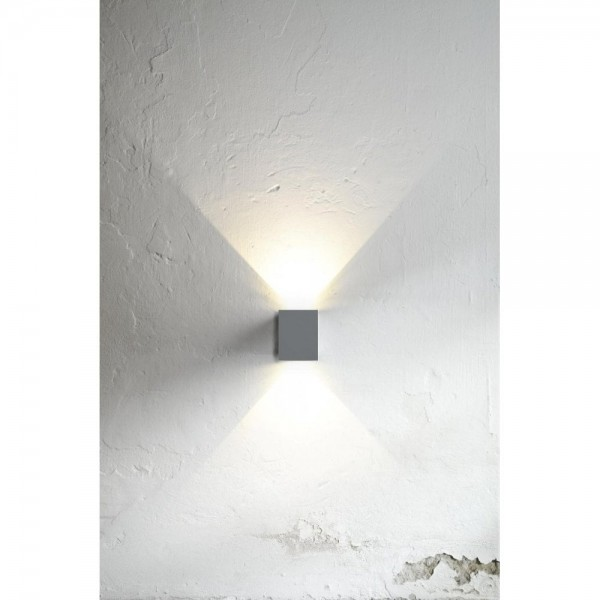 Nordlux DFTP 77521010 Grey Canto Kubi LED Wall Light