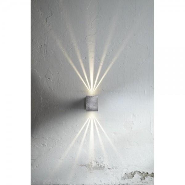 Nordlux DFTP 77521031 Galvanised Steel Canto Kubi LED Wall Light