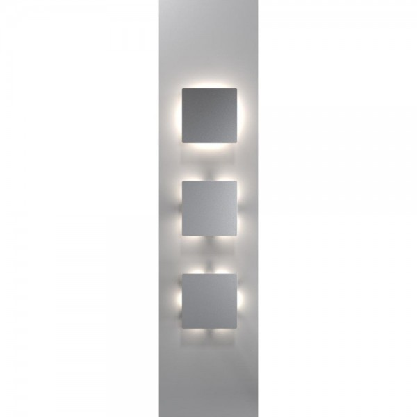 Wall Light Quadro: Nordlux DFTP 83311034 Stainless Steel Quadro Disc Wall