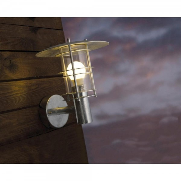 Nordlux DFTP 10610119 Galvanised Steel Fredensborg Wall Light