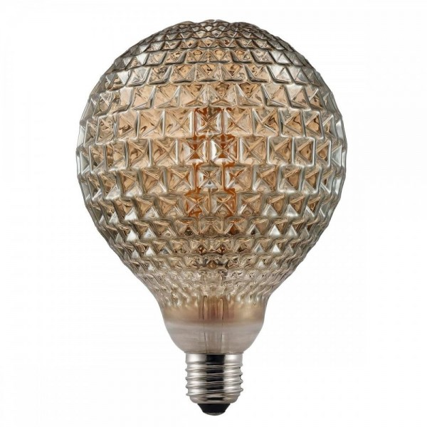 Nordlux Avra Dent 2W 2200K Non-Dimmable E27 Smoked LED Bulb