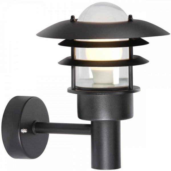 Nordlux 71431003 Lønstrup 22 Black Garden Wall Light
