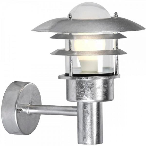 Nordlux 71431031 Lønstrup 22 Galvanized Steel Garden Wall Light