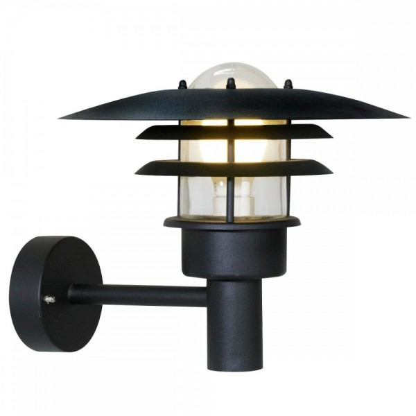 Nordlux 71411003 Lønstrup 32 Black Garden Wall Light