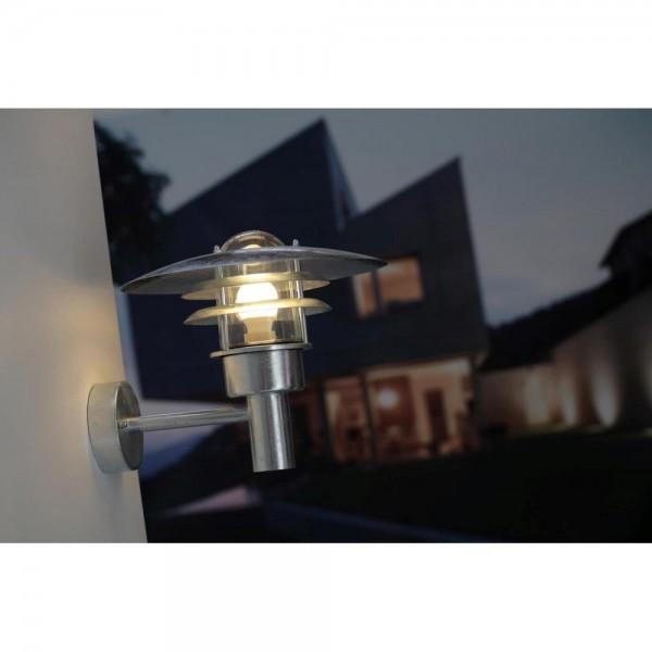 Nordlux 71411031 Lønstrup 32 Galvanized Steel Garden Wall Light