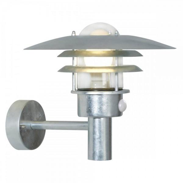 Nordlux 71412031 Lønstrup 32 Galvanized Steel Garden Wall Light with Sensor