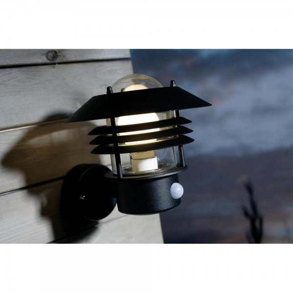 Nordlux Vejers 25101003 Black Outdoor Wall Light with Sensor