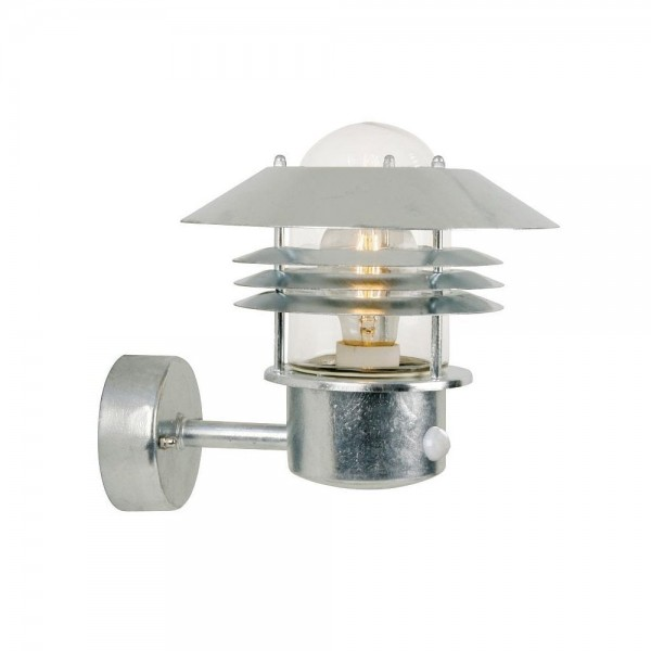 Nordlux Vejers 25101031 Galvanized Steel Outdoor Wall Light with Sensor