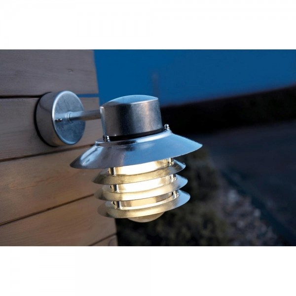 Nordlux Vejers Down 74461031 Galvanized Steel Outdoor Wall Light