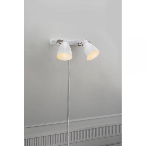 Nordlux Largo 47060001 White 2-Rail Wall Light