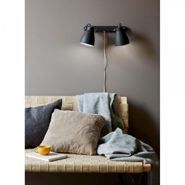 Nordlux Largo 47060003 Black 2-Rail Wall Light