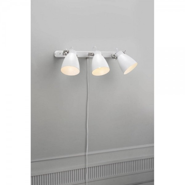 Nordlux Largo 47070001 White 3-Rail Wall Light