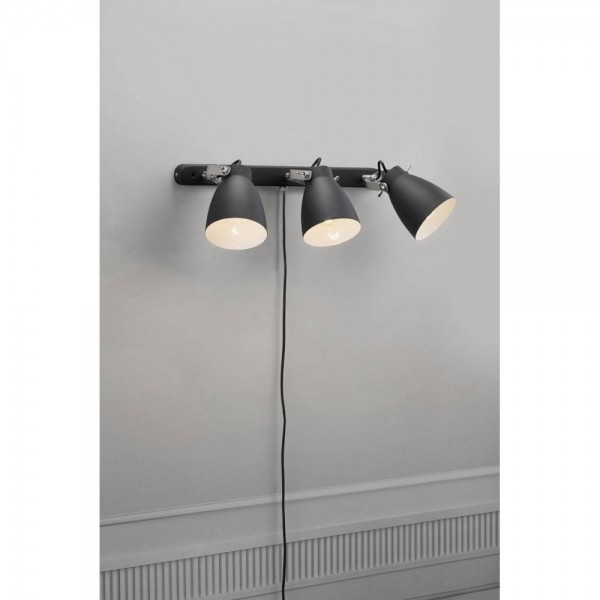 Nordlux Largo 47070003 Black 3-Rail Wall Light