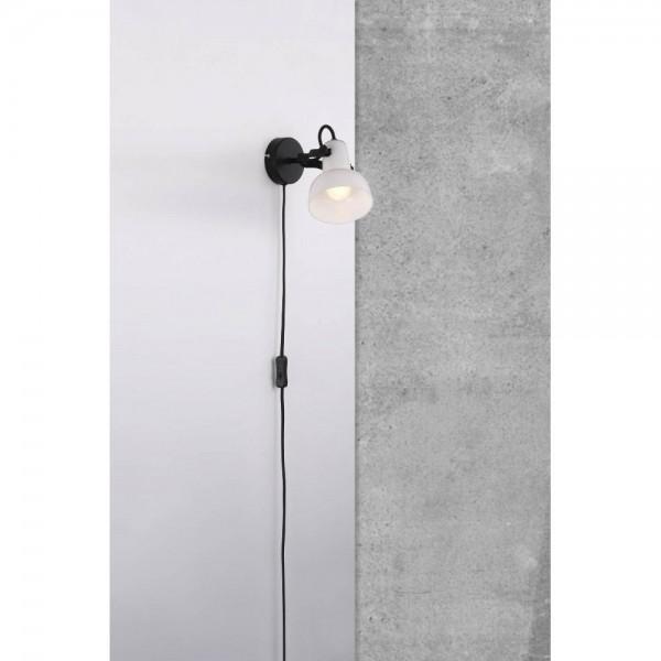 Nordlux Parson 47101003 Black/Opal White Wall Light