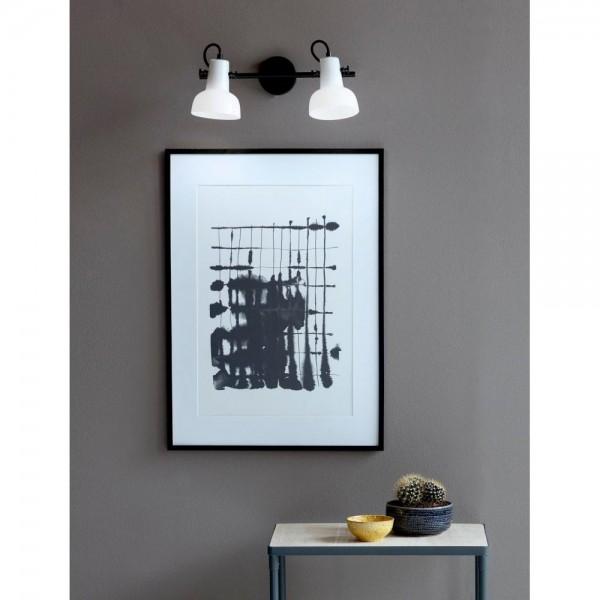 Nordlux Parson 47110003 Black/Opal White 2-Rail Wall Light