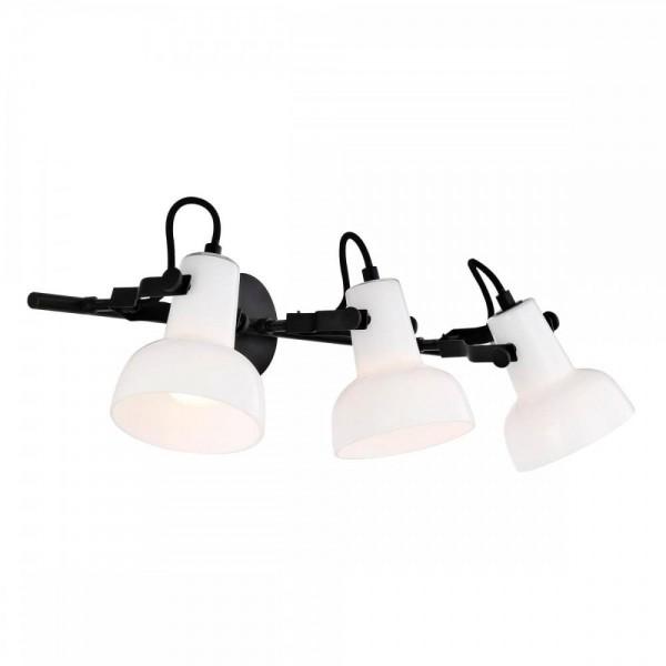 Nordlux Parson 47120003 Black/Opal White 3-Rail Wall Light