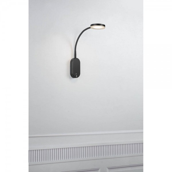 Nordlux Mason 47131003 Black/Frosted Glass Wall Light