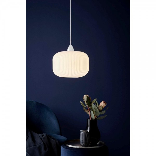 Nordlux Milford 30 46583001 Opal White Pendant Light