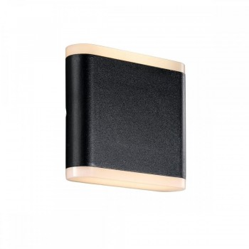 Nordlux Akron 11 46961003 Black/Opal White Outdoor Wall Light