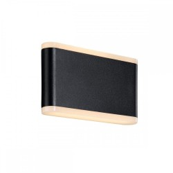 Nordlux Akron 17 46971003 Black/Opal White Outdoor Wall Light