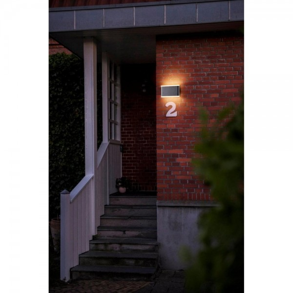 Nordlux Akron 17 46971003 Black/Opal White Outdoor Wall Light