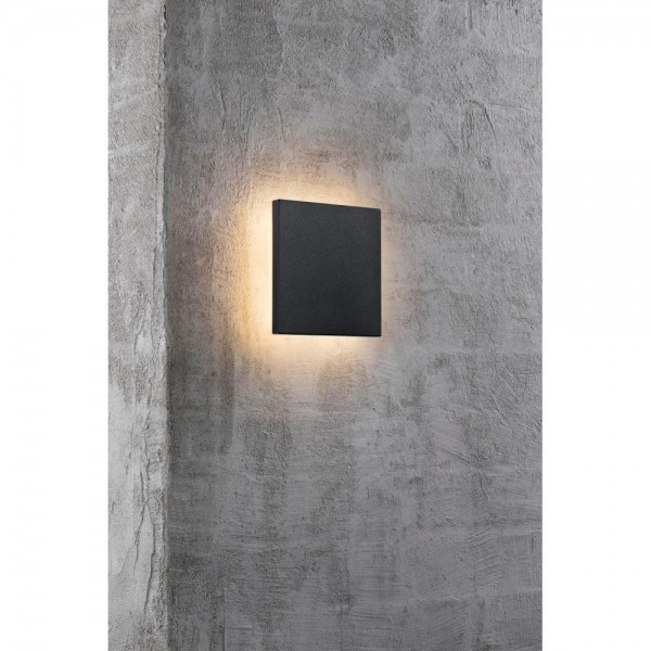 Nordlux Flint Square 46951003 Black/Opal White Outdoor Wall Light
