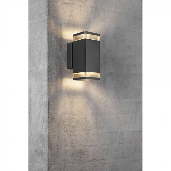 Nordlux Elm Double 45331003 Black Outdoor Wall Light